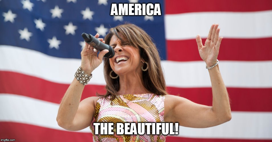 AMERICA THE BEAUTIFUL! | image tagged in singing 'murica | made w/ Imgflip meme maker