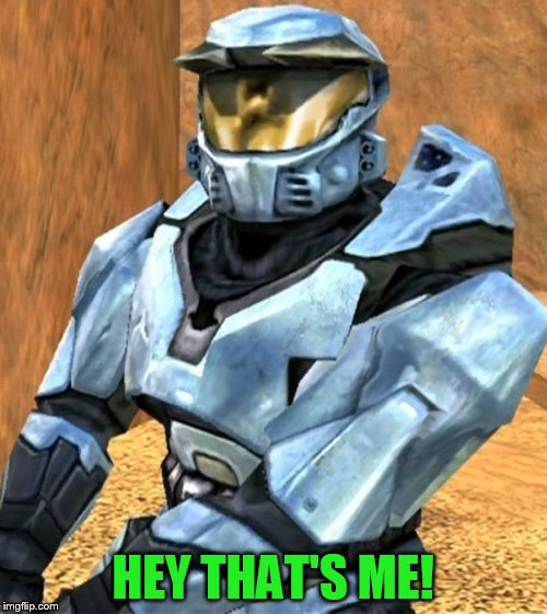HEY THAT'S ME! | image tagged in church rvb season 1 | made w/ Imgflip meme maker