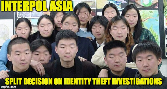 We are all different | INTERPOL ASIA SPLIT DECISION ON IDENTITY THEFT INVESTIGATIONS | image tagged in identity theft,memes | made w/ Imgflip meme maker
