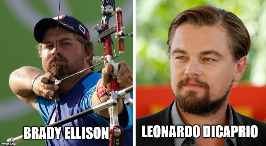 Is it just me? Yes? OK then... | LEONARDO DICAPRIO BRADY ELLISON | image tagged in memes,leonardo dicaprio,brady ellison,lookalike,rio olympics,sport | made w/ Imgflip meme maker