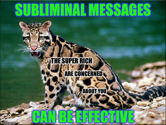 Duh, So Call Me A Communist | SUBLIMINAL MESSAGES CAN BE EFFECTIVE THE SUPER RICH ARE CONCERNED ABOUT YOU | image tagged in rich,hypocrisy,common sense | made w/ Imgflip meme maker