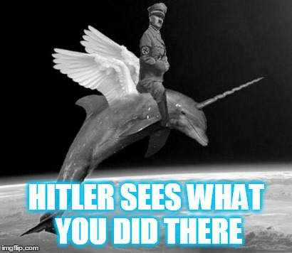 HITLER SEES WHAT YOU DID THERE | made w/ Imgflip meme maker