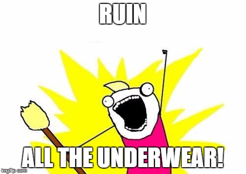 X All The Y Meme | RUIN ALL THE UNDERWEAR! | image tagged in memes,x all the y | made w/ Imgflip meme maker