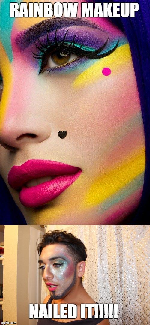 Pinterest Makeup Fail! - Imgflip