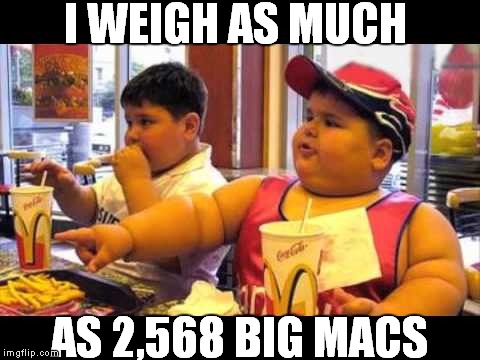 I WEIGH AS MUCH AS 2,568 BIG MACS | made w/ Imgflip meme maker