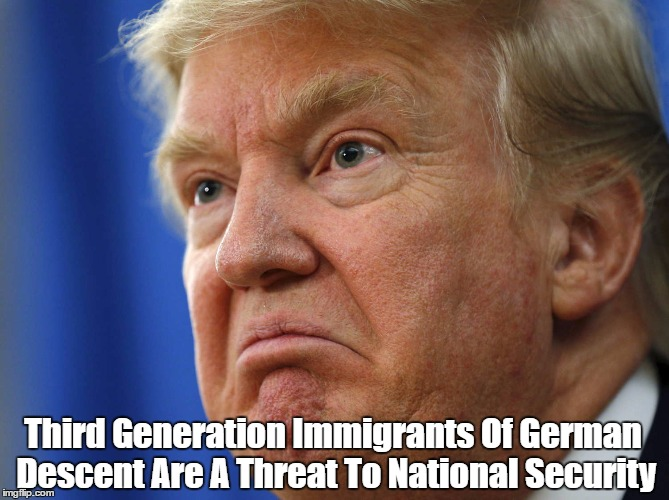Third Generation Immigrants Of German Descent Are A Threat To National Security | made w/ Imgflip meme maker