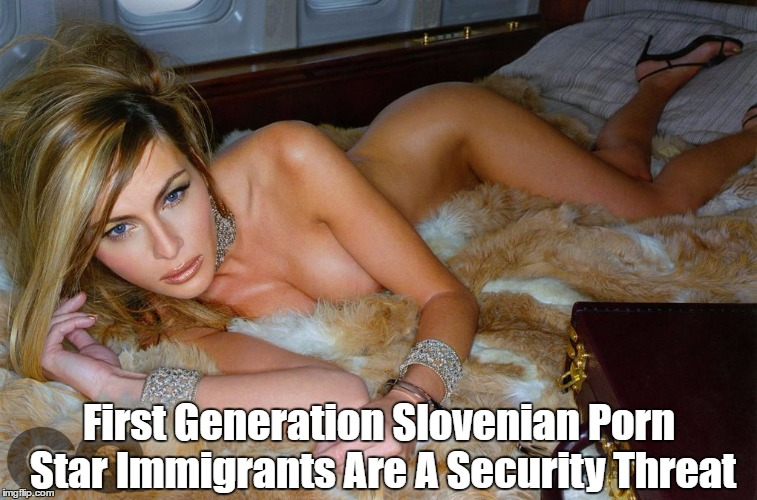 First Generation Slovenian Porn Star Immigrants Are A Security Threat | made w/ Imgflip meme maker