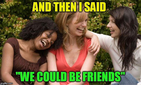 AND THEN I SAID ''WE COULD BE FRIENDS'' | made w/ Imgflip meme maker