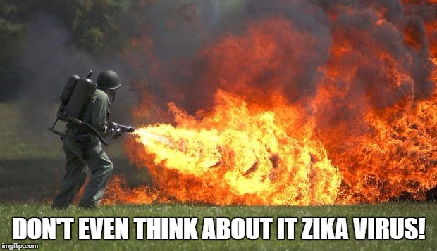 DON'T EVEN THINK ABOUT IT ZIKA VIRUS! | made w/ Imgflip meme maker