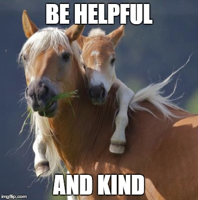 Foal Of Mine | BE HELPFUL AND KIND | image tagged in memes,foal of mine | made w/ Imgflip meme maker