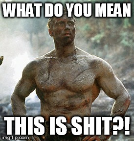 Olympic open water swimming  | WHAT DO YOU MEAN THIS IS SHIT?! | image tagged in memes,predator,2016 olympics | made w/ Imgflip meme maker