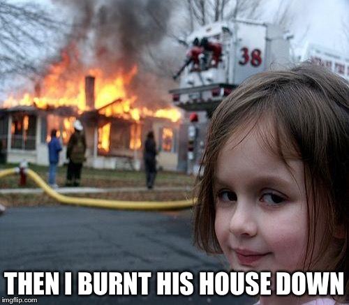 THEN I BURNT HIS HOUSE DOWN | made w/ Imgflip meme maker