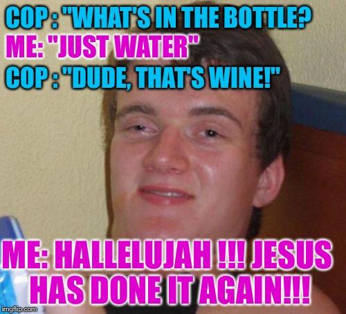 Water Bottle Neck Meme: Praise!!!praise!!!praise!!!