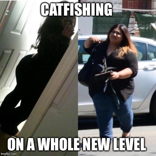 Fat girl fishing meme