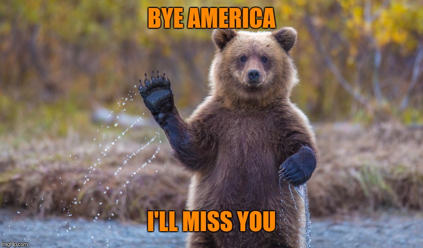 HI garry | BYE AMERICA I'LL MISS YOU | image tagged in hi garry | made w/ Imgflip meme maker