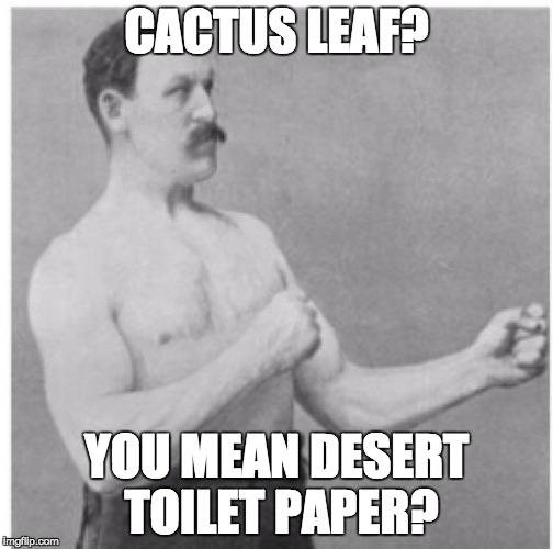 CACTUS LEAF? YOU MEAN DESERT TOILET PAPER? | made w/ Imgflip meme maker