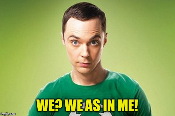 WE? WE AS IN ME! | made w/ Imgflip meme maker