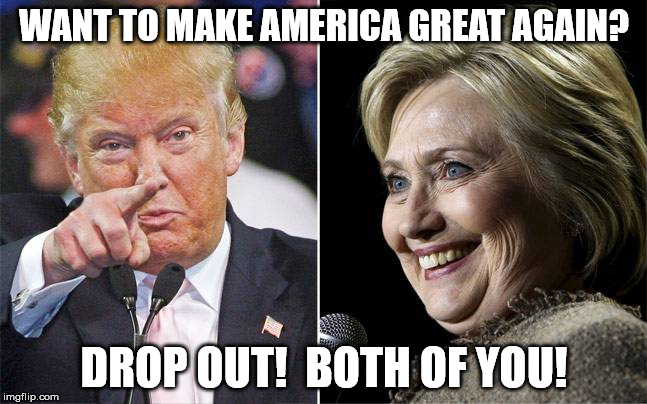 Hillary Vs Trump Funny Meme : This isn't funny anymore! imgflip