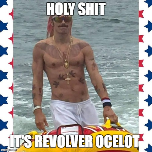 HOLY SHIT IT'S REVOLVER OCELOT | image tagged in metal gear solid,weird looking | made w/ Imgflip meme maker