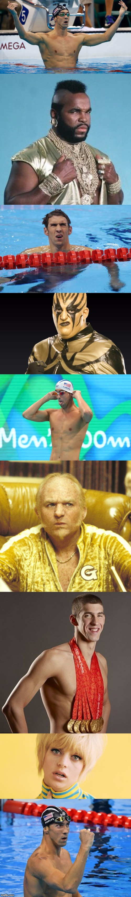 The Legend! | image tagged in memes,funny,michael phelps,2016 olympics | made w/ Imgflip meme maker