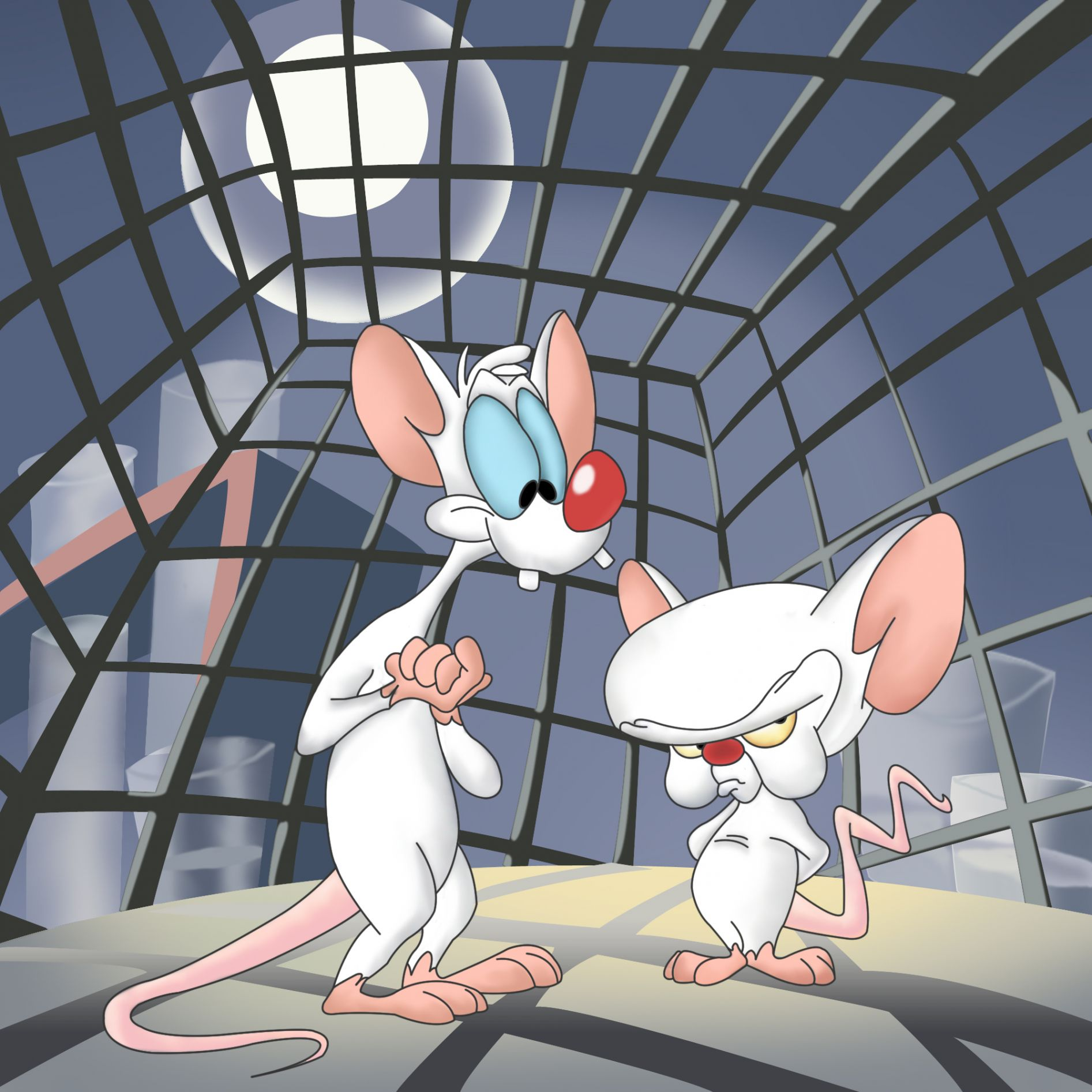 pinky and brain Meme Template