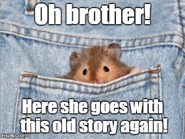 Oh brother! Here she goes with this old story again! | made w/ Imgflip meme maker