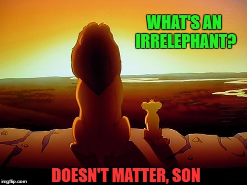 WHAT'S AN IRRELEPHANT? DOESN'T MATTER, SON | made w/ Imgflip meme maker