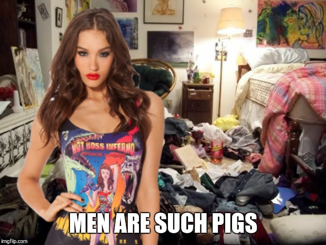 Typical attitude  | MEN ARE SUCH PIGS | image tagged in women | made w/ Imgflip meme maker