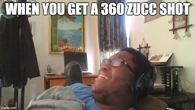 Happy-Go-Lucky Black Guy |  WHEN YOU GET A 360 ZUCC SHOT | image tagged in new,fresh,juicy,funny memes,original meme | made w/ Imgflip meme maker
