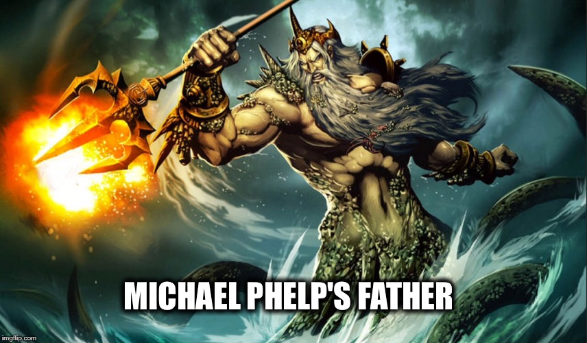 King Triton is Phelp's father |  MICHAEL PHELP'S FATHER | image tagged in memes,funny,michael phelps | made w/ Imgflip meme maker
