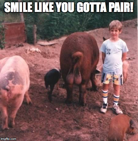 Smile like you got a pair | SMILE LIKE YOU GOTTA PAIR! | image tagged in animals,fail,genitals,kids,zoo | made w/ Imgflip meme maker