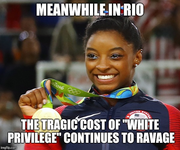 "MEANWHILE IN RIO THE TRAGIC COST OF ""WHITE PRIVILEGE"" CONTINUES TO RAVAGE 