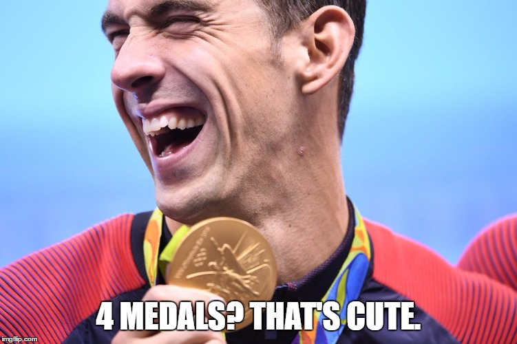 4 MEDALS? THAT'S CUTE. | made w/ Imgflip meme maker