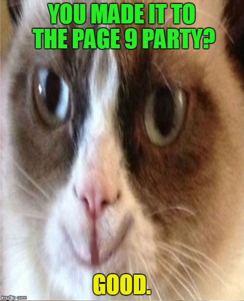 YOU MADE IT TO THE PAGE 9 PARTY? GOOD. | made w/ Imgflip meme maker