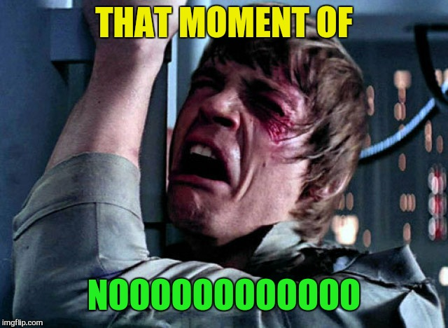 Nooo | THAT MOMENT OF NOOOOOOOOOOOO | image tagged in nooo | made w/ Imgflip meme maker