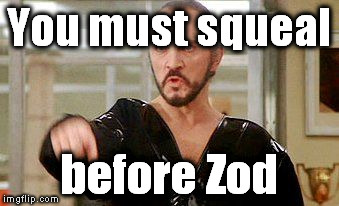 Zod here is a big fan of the Sublime song Wrong Way.  lol | You must squeal before Zod | image tagged in general zod | made w/ Imgflip meme maker