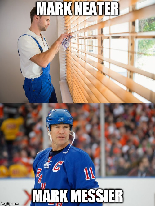 Marks | MARK NEATER MARK MESSIER | image tagged in marks | made w/ Imgflip meme maker