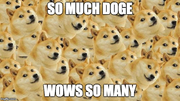 Multi Doge  | SO MUCH DOGE WOWS SO MANY | image tagged in memes,multi doge,funny | made w/ Imgflip meme maker