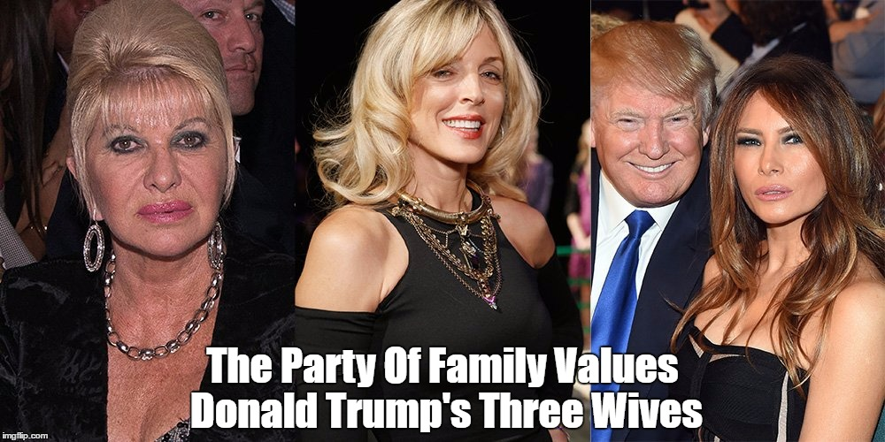 "Image result for trump's wives ""Pax on both houses"""