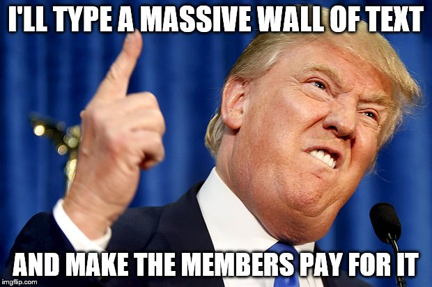 Image result for trump wall of text meme