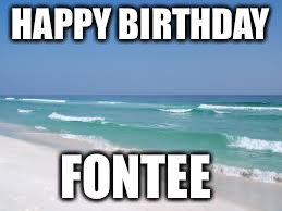 Navarre Beach  | HAPPY BIRTHDAY FONTEE | image tagged in navarre beach | made w/ Imgflip meme maker