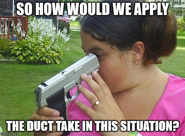SO HOW WOULD WE APPLY THE DUCT TAKE IN THIS SITUATION? | image tagged in darwin award | made w/ Imgflip meme maker