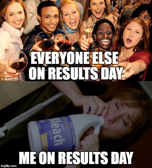 Results Day | EVERYONE ELSE ON RESULTS DAY ME ON RESULTS DAY | image tagged in results,bleach | made w/ Imgflip meme maker
