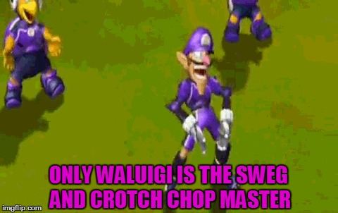 ONLY WALUIGI IS THE SWEG AND CROTCH CHOP MASTER | made w/ Imgflip meme maker