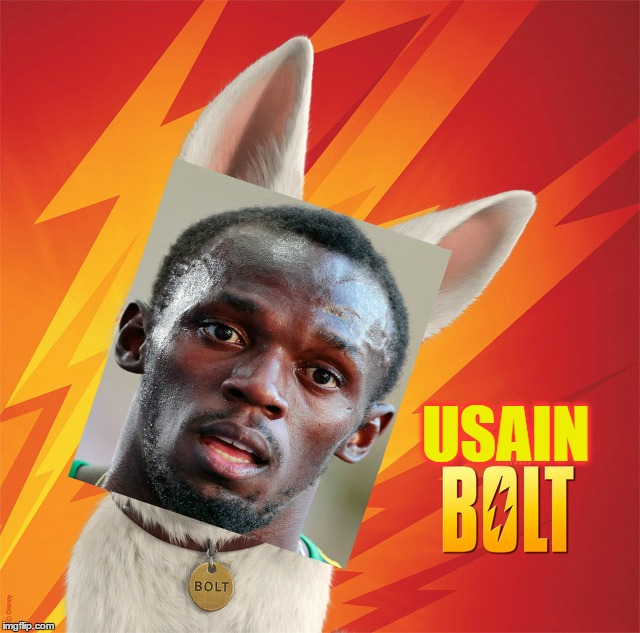 I Just Had To! | USAIN | image tagged in memes,funny,bolt,disney,usain bolt,photoshop | made w/ Imgflip meme maker