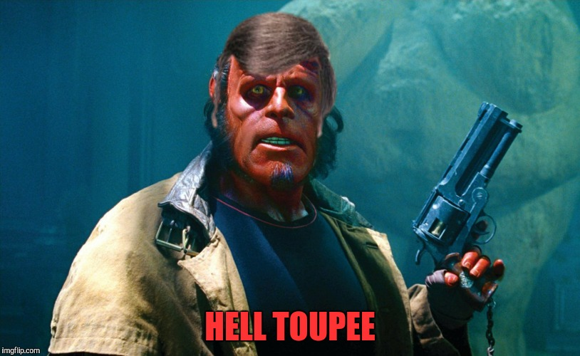 "Sam Donaldson called and he wants his ""hair"" back 