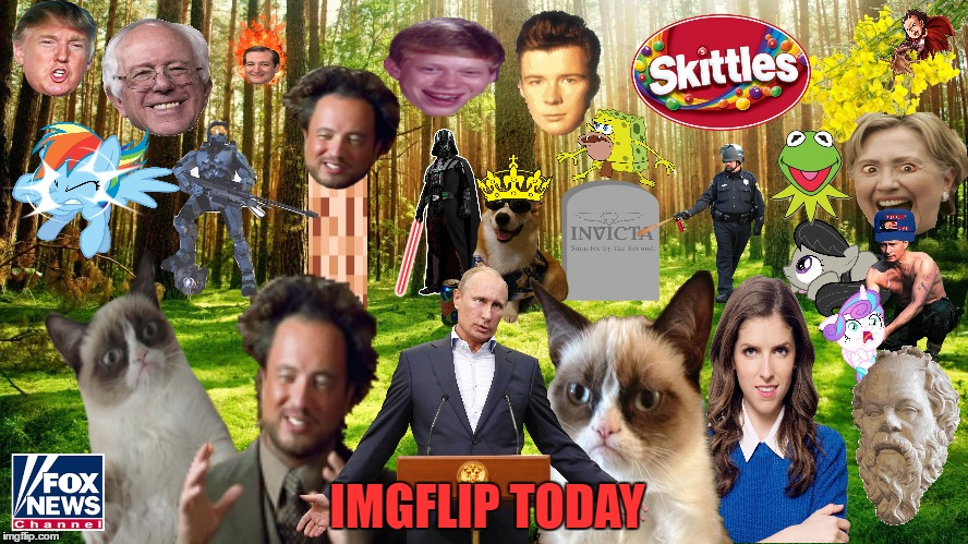 When I Was Just Getting To Be Known, I Made A Clipart Collage Representing Imgflip, Now Here's One For Everything Since | IMGFLIP TODAY | image tagged in imgflip,clipart,collage,welcome to imgflip,imgflip unite,olympianproduct | made w/ Imgflip meme maker