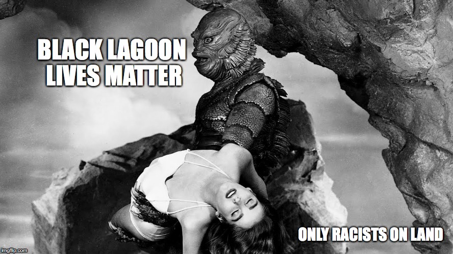 Forida Hurricane  |  ONLY RACISTS ON LAND | image tagged in creature from black lagoon,disaster | made w/ Imgflip meme maker