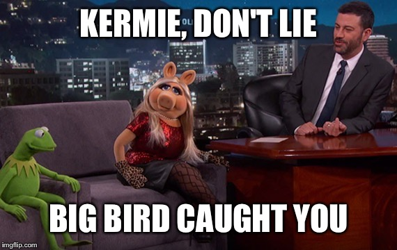 KERMIE, DON'T LIE BIG BIRD CAUGHT YOU | made w/ Imgflip meme maker