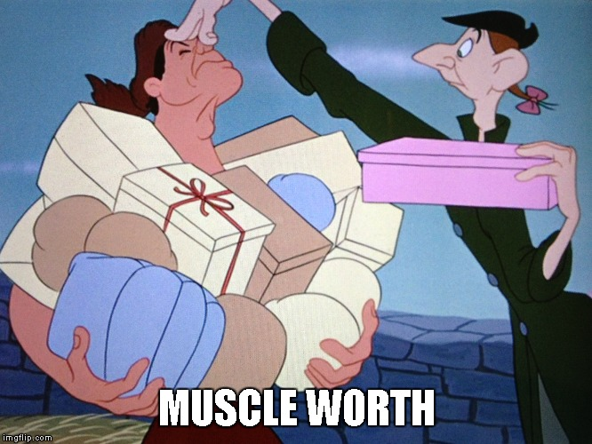 MUSCLE WORTH | image tagged in muscle,worth,exercise,better than,big gun | made w/ Imgflip meme maker